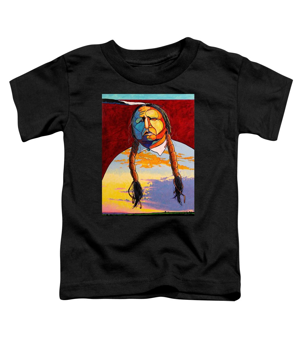 Spiritual Toddler T-Shirt featuring the painting All That I Am by Joe Triano