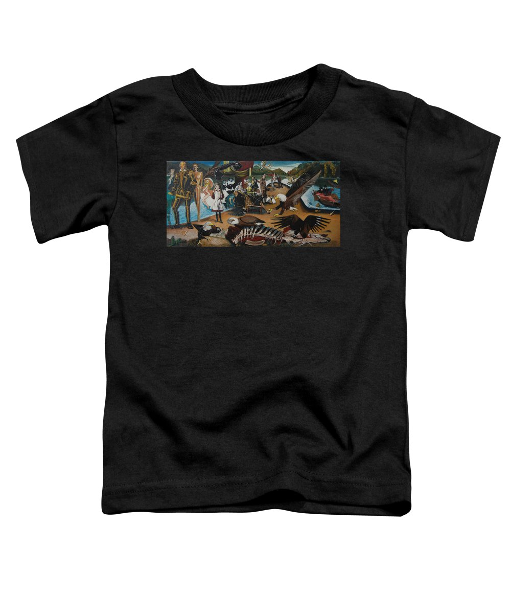 Unfinished Toddler T-Shirt featuring the painting America The Beautiful by Jude Darrien