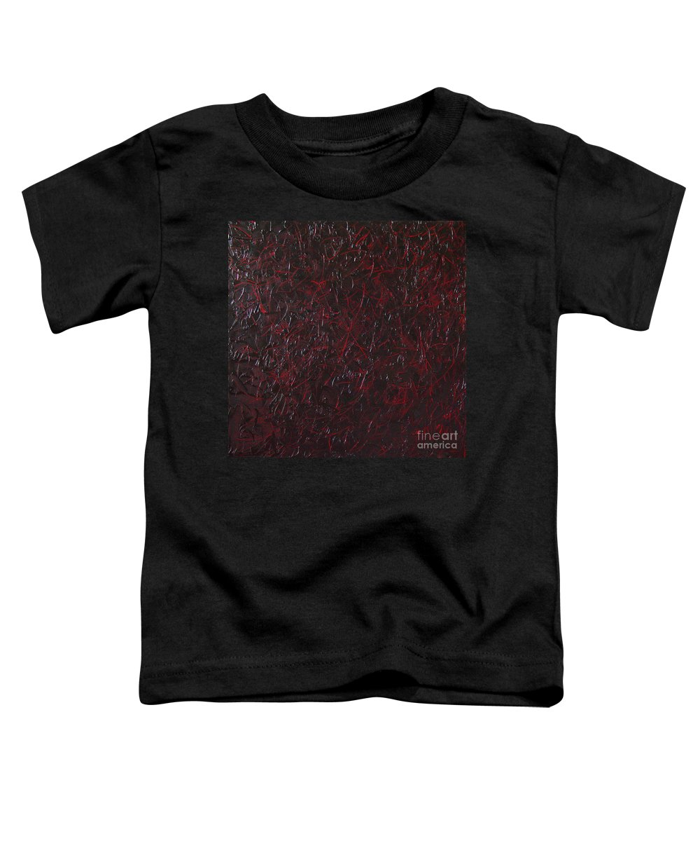 Abstract Toddler T-Shirt featuring the painting Another Shedding by Dean Triolo