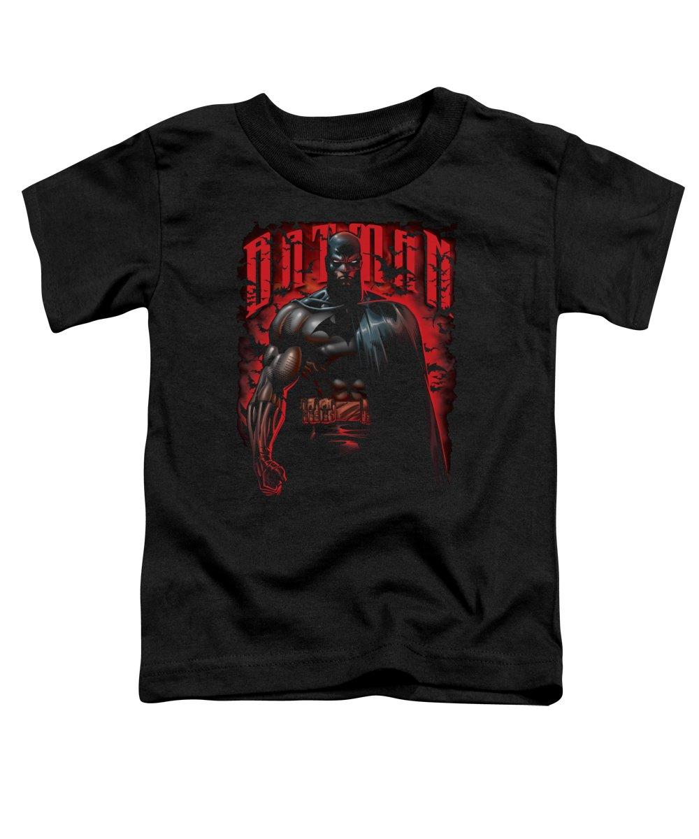 Batman Toddler T-Shirt featuring the digital art Batman - Red Knight by Brand A