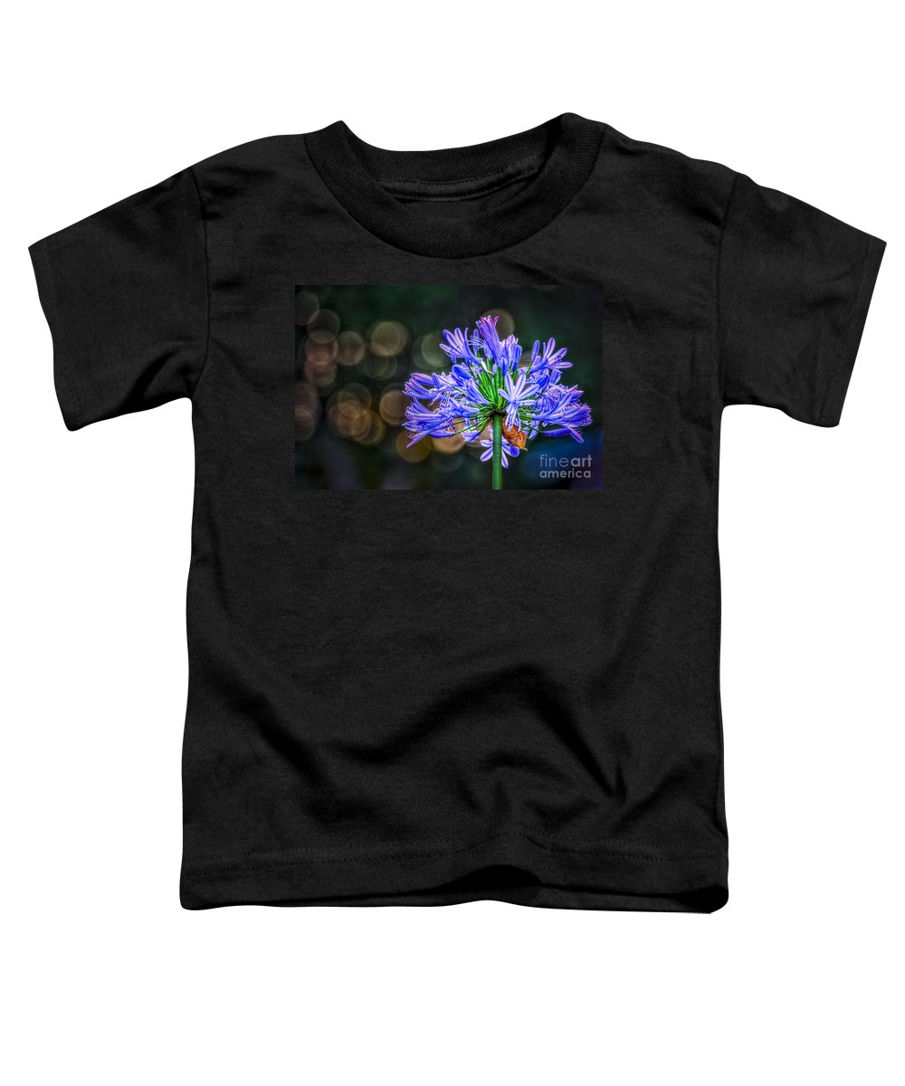 Blue Blooms Toddler T-Shirt featuring the photograph Blue Blooms by Marvin Spates