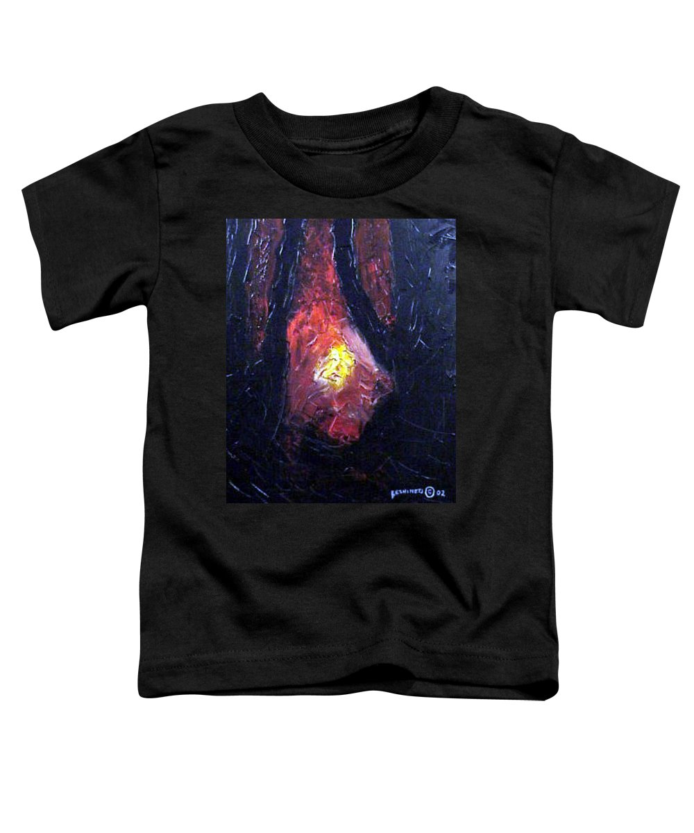 Landscape Toddler T-Shirt featuring the painting Bonefire by Sergey Bezhinets