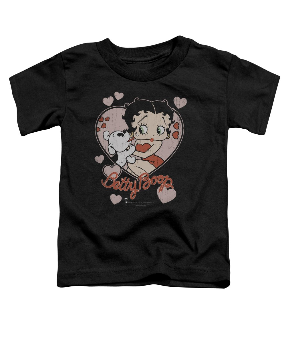 Betty Boop Toddler T-Shirt featuring the digital art Boop - Classic Kiss by Brand A
