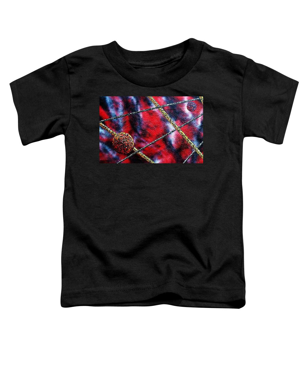 Abstract Toddler T-Shirt featuring the painting Continuum Iv Red Sky by Micah Guenther
