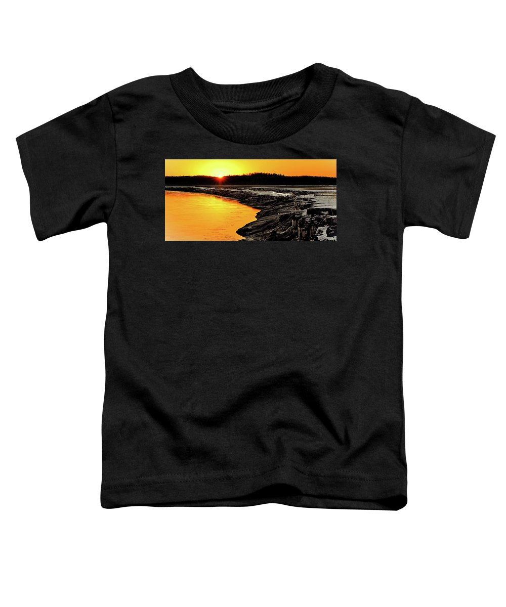Alaska Toddler T-Shirt featuring the photograph Contrasts In Nature by Ron Day