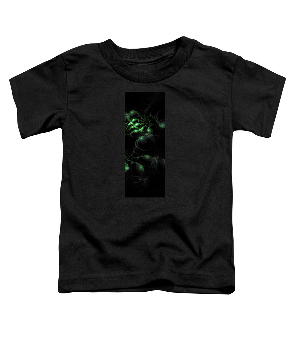 Corporate Toddler T-Shirt featuring the digital art Cosmic Alien Eyes Original 2 by Shawn Dall