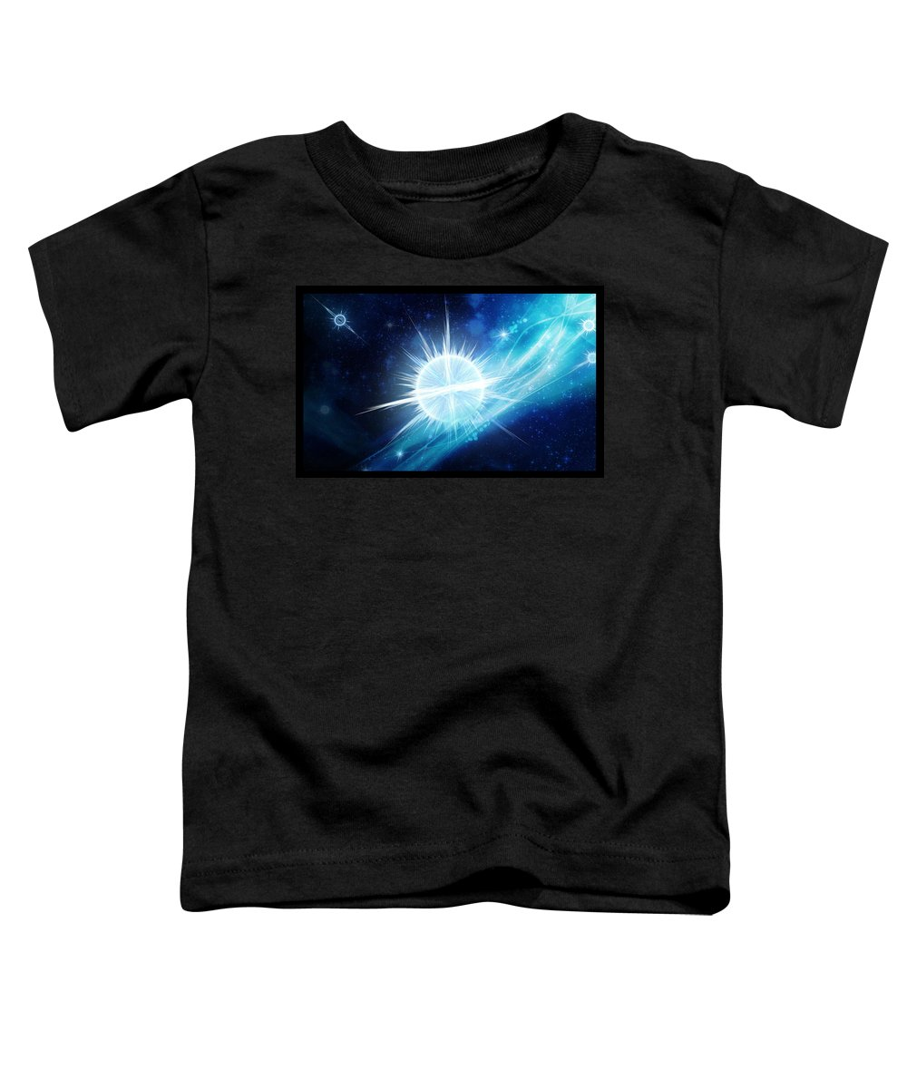 Corporate Toddler T-Shirt featuring the digital art Cosmic Icestream by Shawn Dall