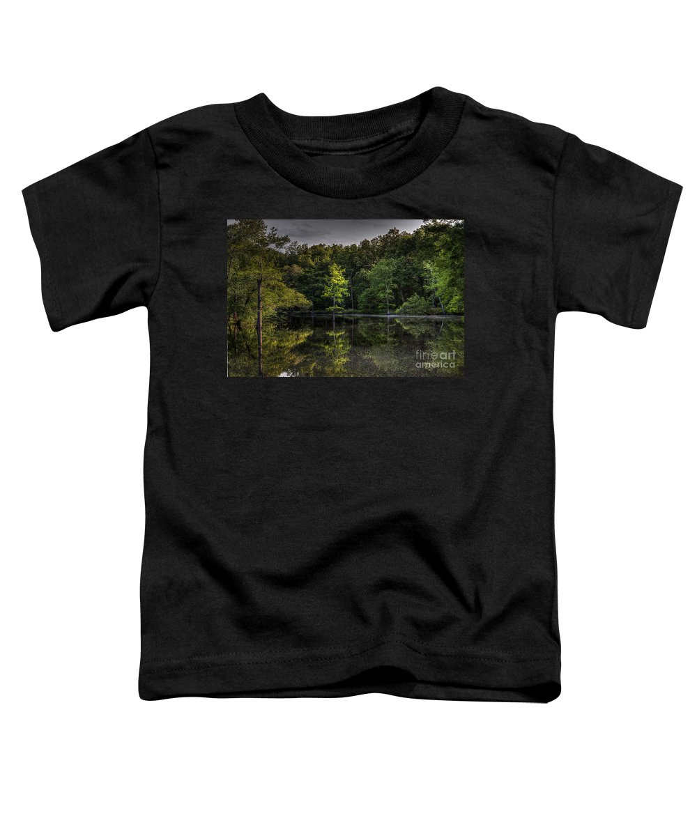 2014 Toddler T-Shirt featuring the photograph Cypress At Dusk by Larry Braun
