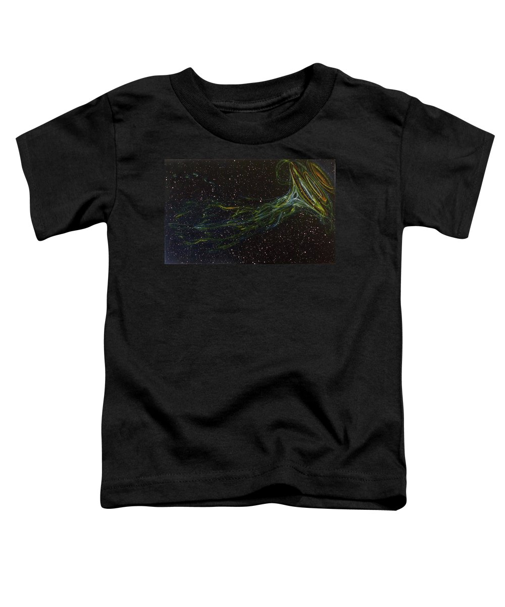 Abstract Toddler T-Shirt featuring the painting Death Throes by Sean Connolly