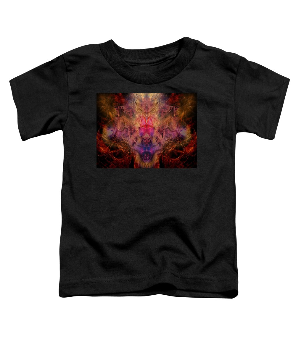 Digital Toddler T-Shirt featuring the digital art Decalcomaniac Mirror by Otto Rapp