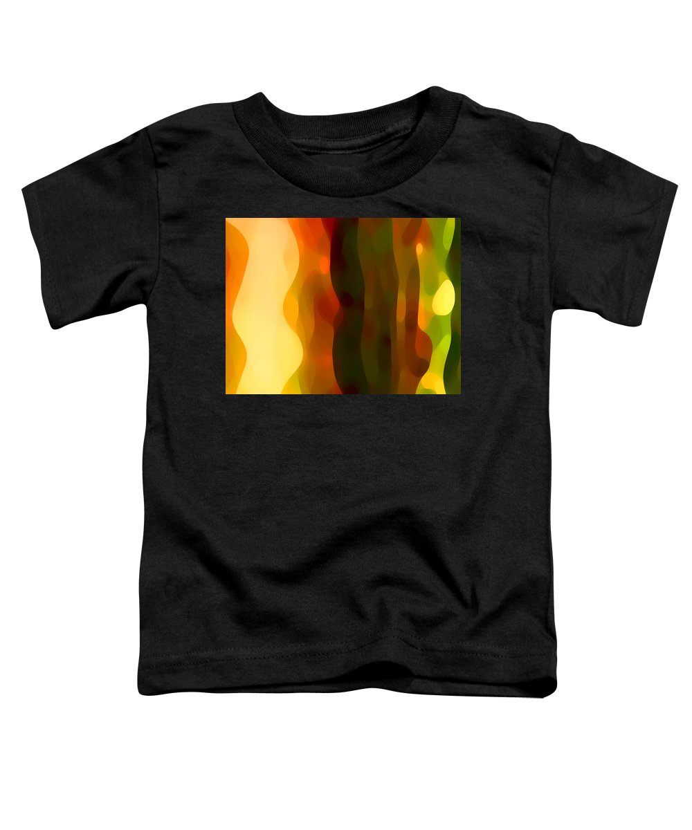 Bold Toddler T-Shirt featuring the painting Desert Pattern 1 by Amy Vangsgard