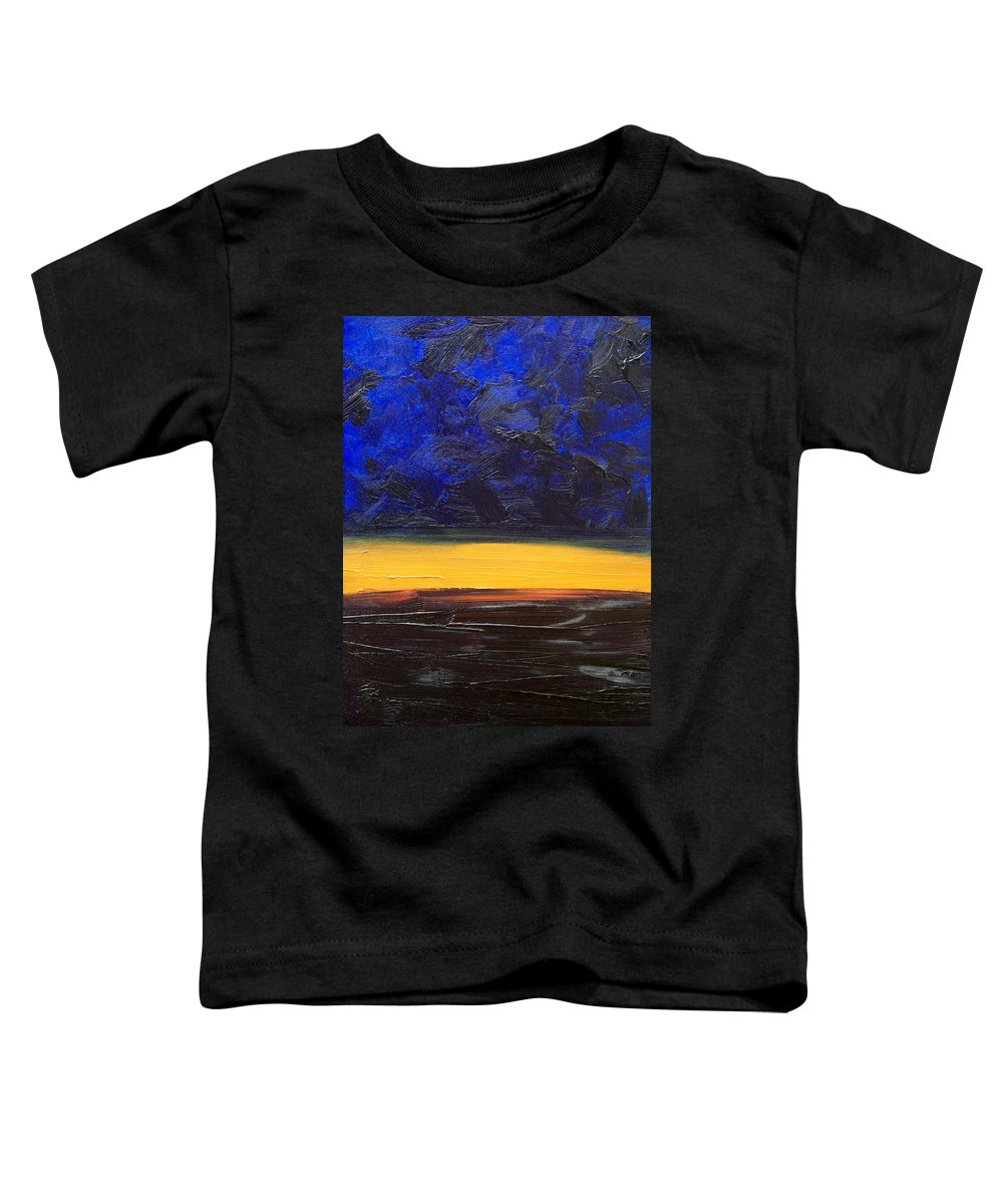 Landscape Toddler T-Shirt featuring the painting Desert Plains by Sergey Bezhinets