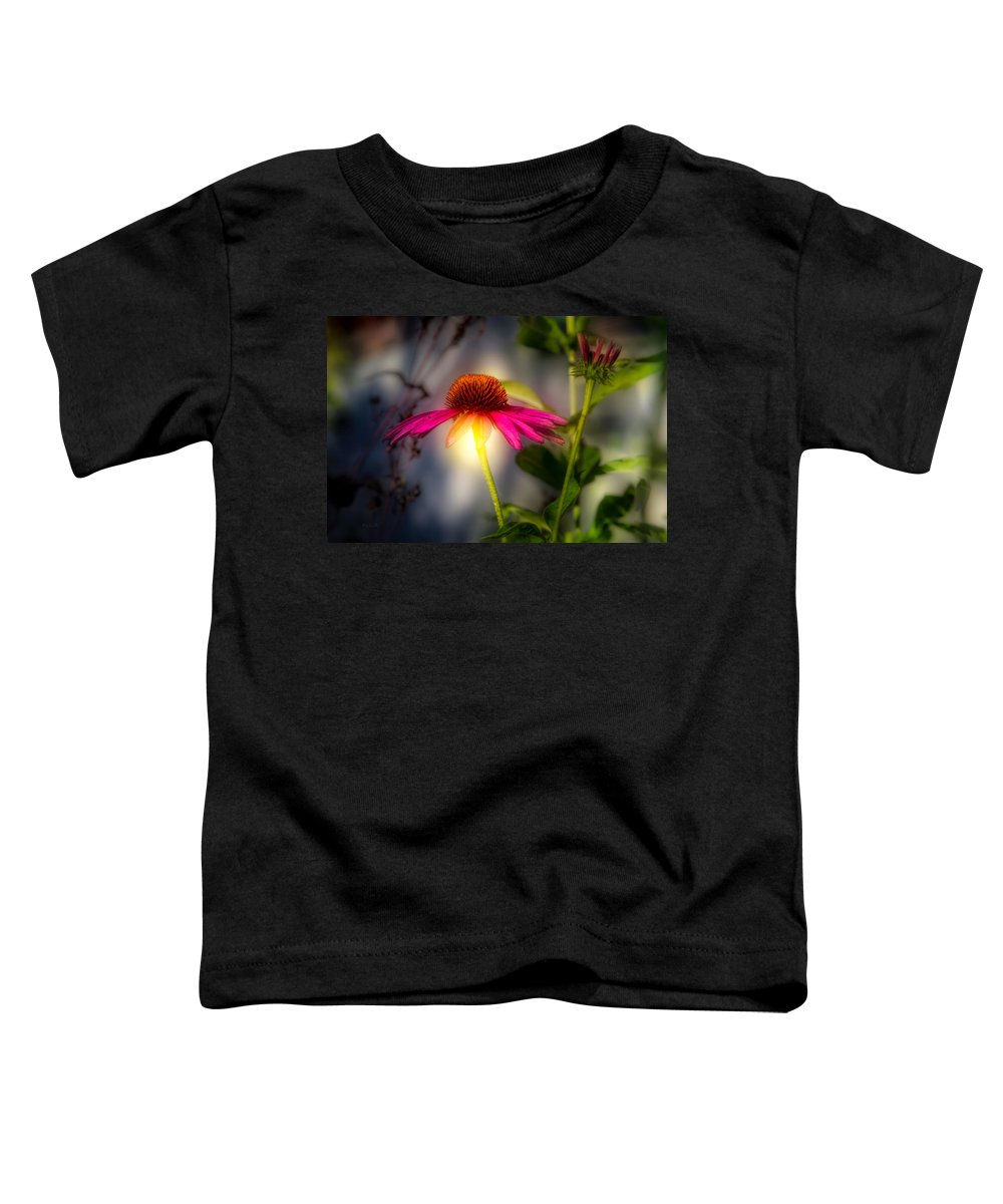 Flower Toddler T-Shirt featuring the photograph Echinacea Sunrise by Bob Orsillo