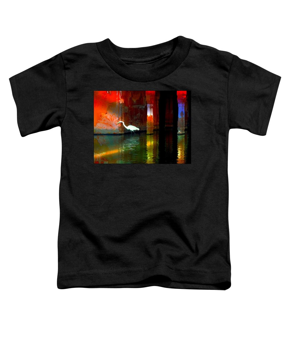 Lake Toddler T-Shirt featuring the photograph Egrets Have A Palace For Nesting by Sue Jacobi