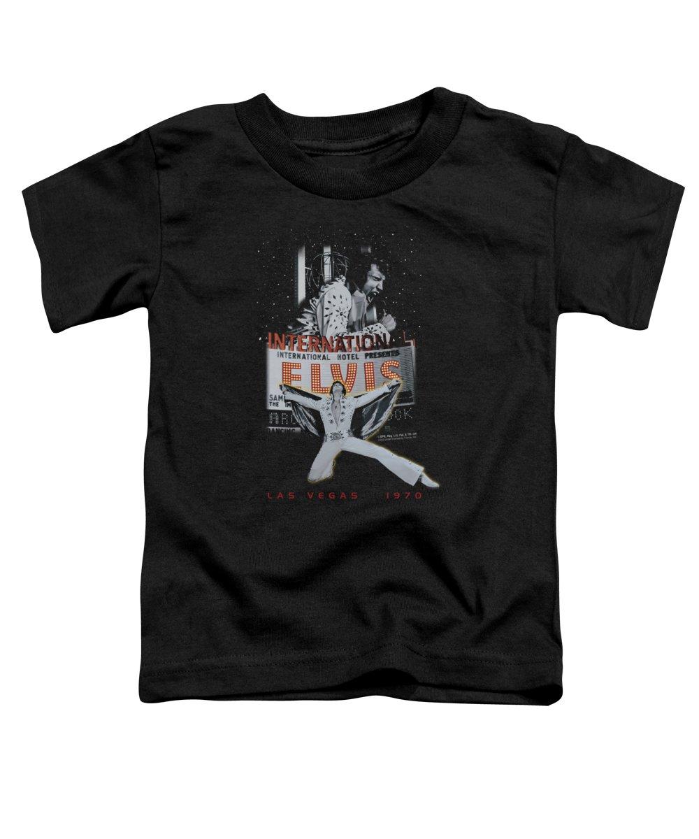 Elvis Toddler T-Shirt featuring the digital art Elvis - Las Vegas by Brand A