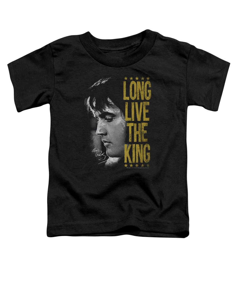 Elvis Toddler T-Shirt featuring the digital art Elvis - Long Live The King by Brand A