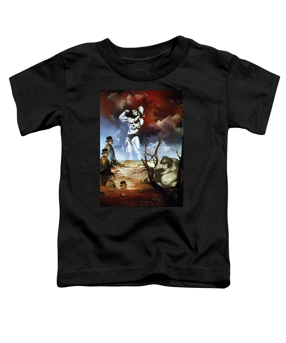 Surrealism Toddler T-Shirt featuring the painting Evolution by Otto Rapp