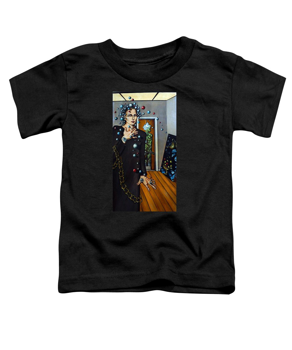 Surreal Toddler T-Shirt featuring the painting Existential Thought by Valerie Vescovi