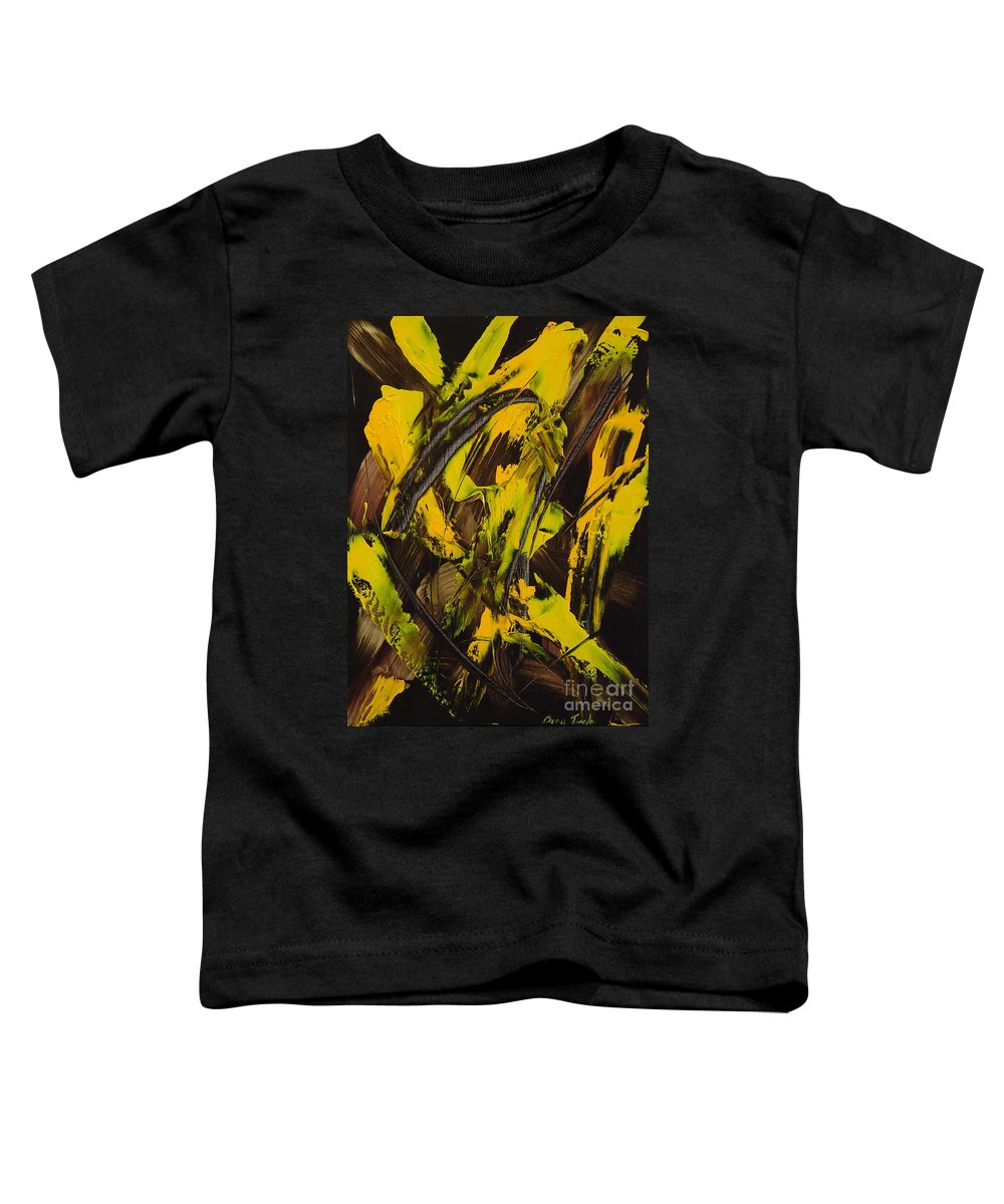 Abstract Toddler T-Shirt featuring the painting Expectations Yellow by Dean Triolo