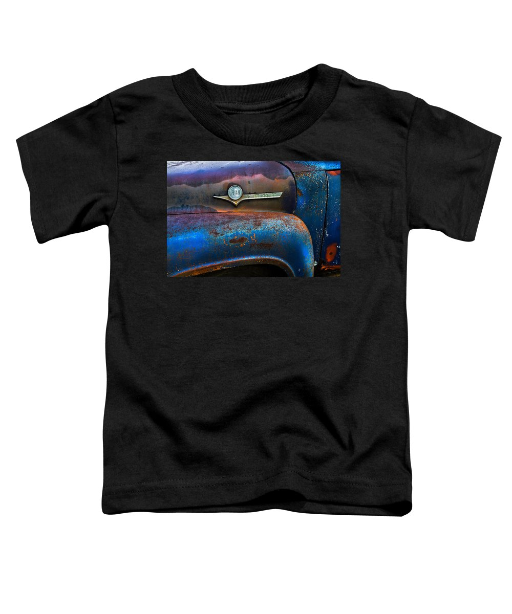 Appalachia Toddler T-Shirt featuring the photograph F-100 Ford by Debra and Dave Vanderlaan