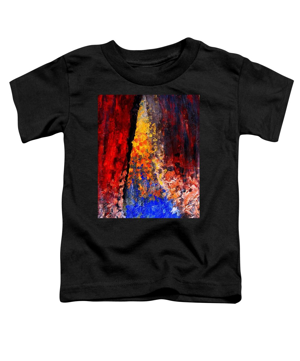 Abstract Toddler T-Shirt featuring the painting Falling by Ian MacDonald