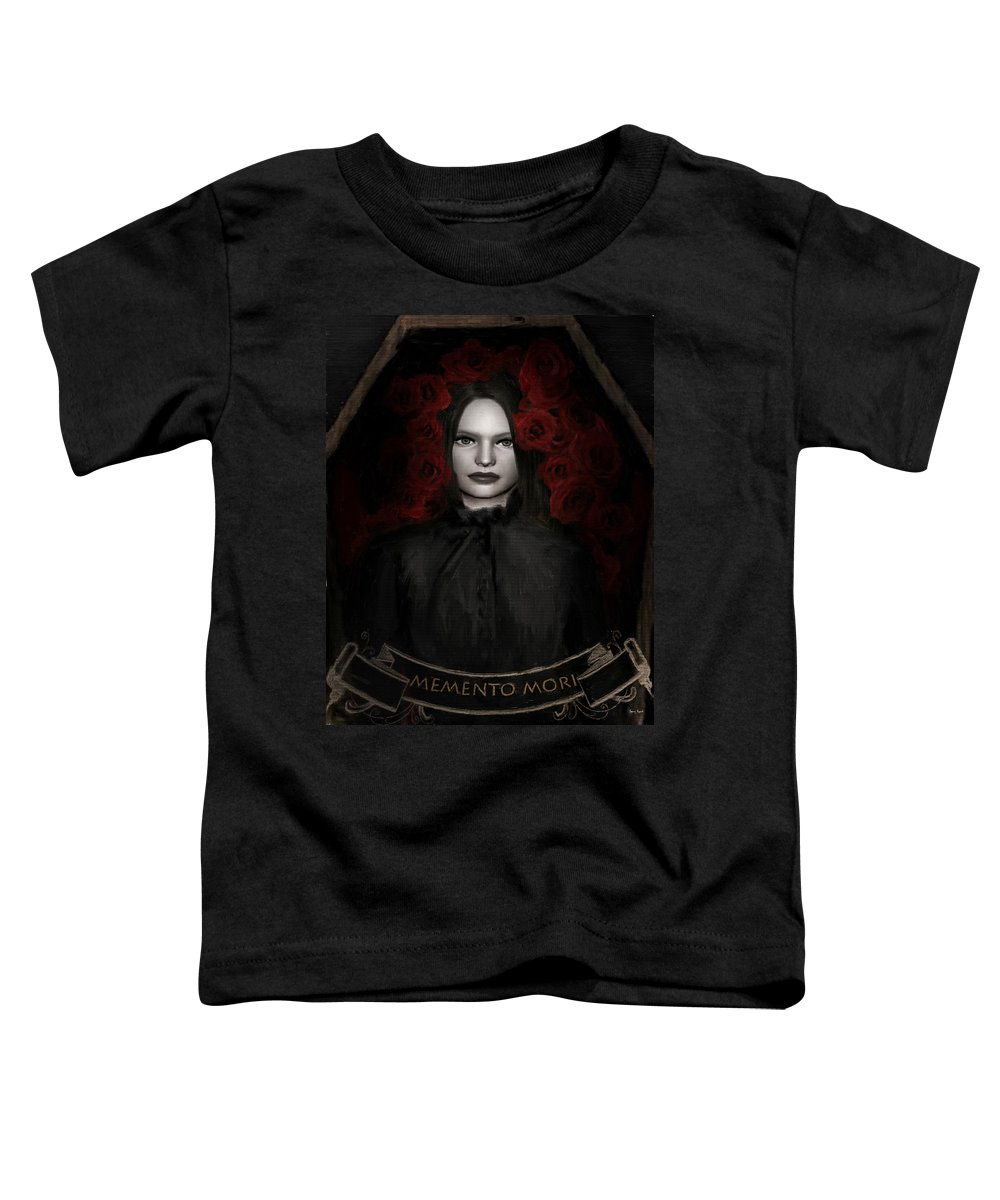 Woman In Black Toddler T-Shirt featuring the photograph Fear Not Death by Lourry Legarde