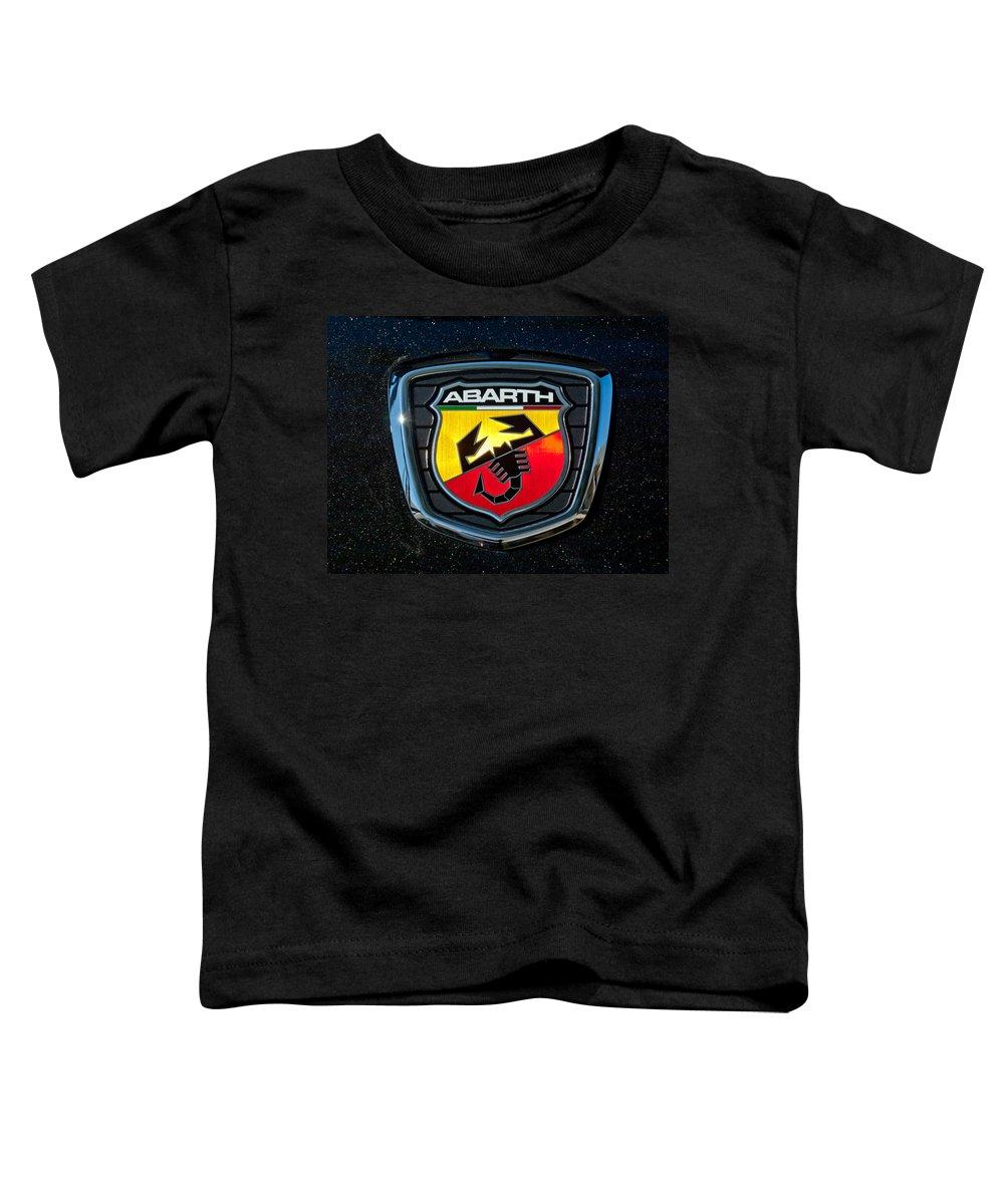Fiat Abarth Emblem Toddler T-Shirt featuring the photograph Fiat Abarth Emblem by Jill Reger