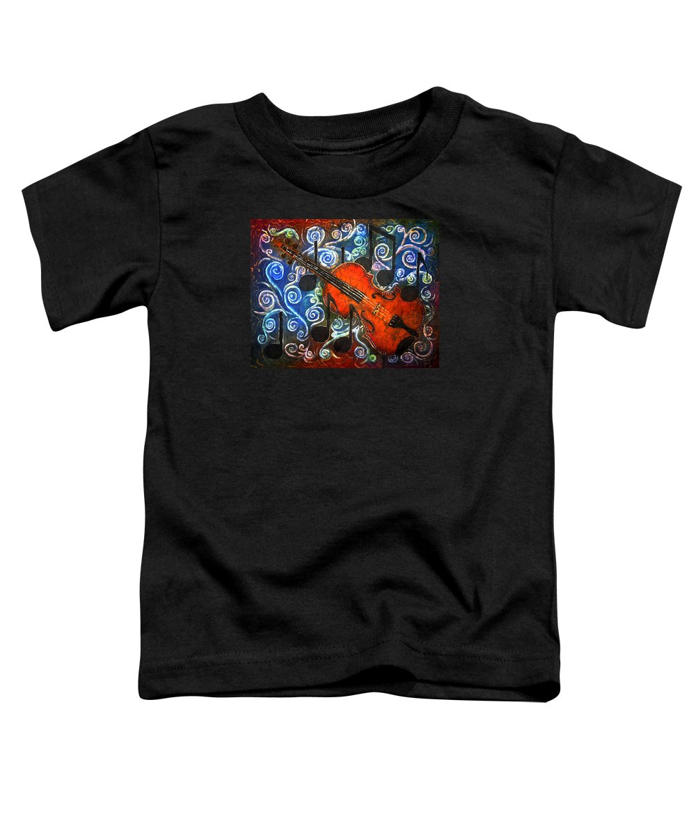 Fiddle Toddler T-Shirt featuring the painting Fiddle - Violin by Sue Duda