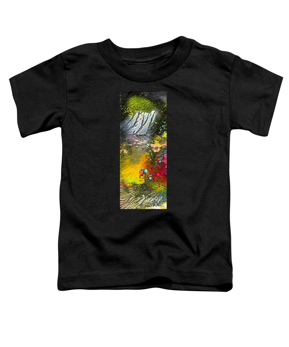 Miki Toddler T-Shirt featuring the painting First Light by Miki De Goodaboom