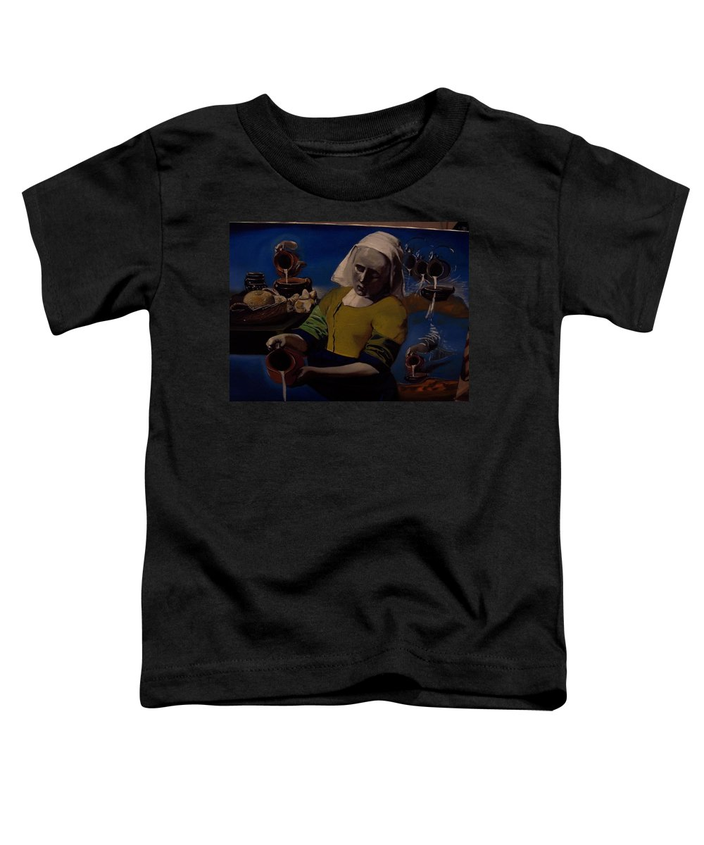Toddler T-Shirt featuring the painting Geological Milk Maid Anthropomorphasized by Jude Darrien