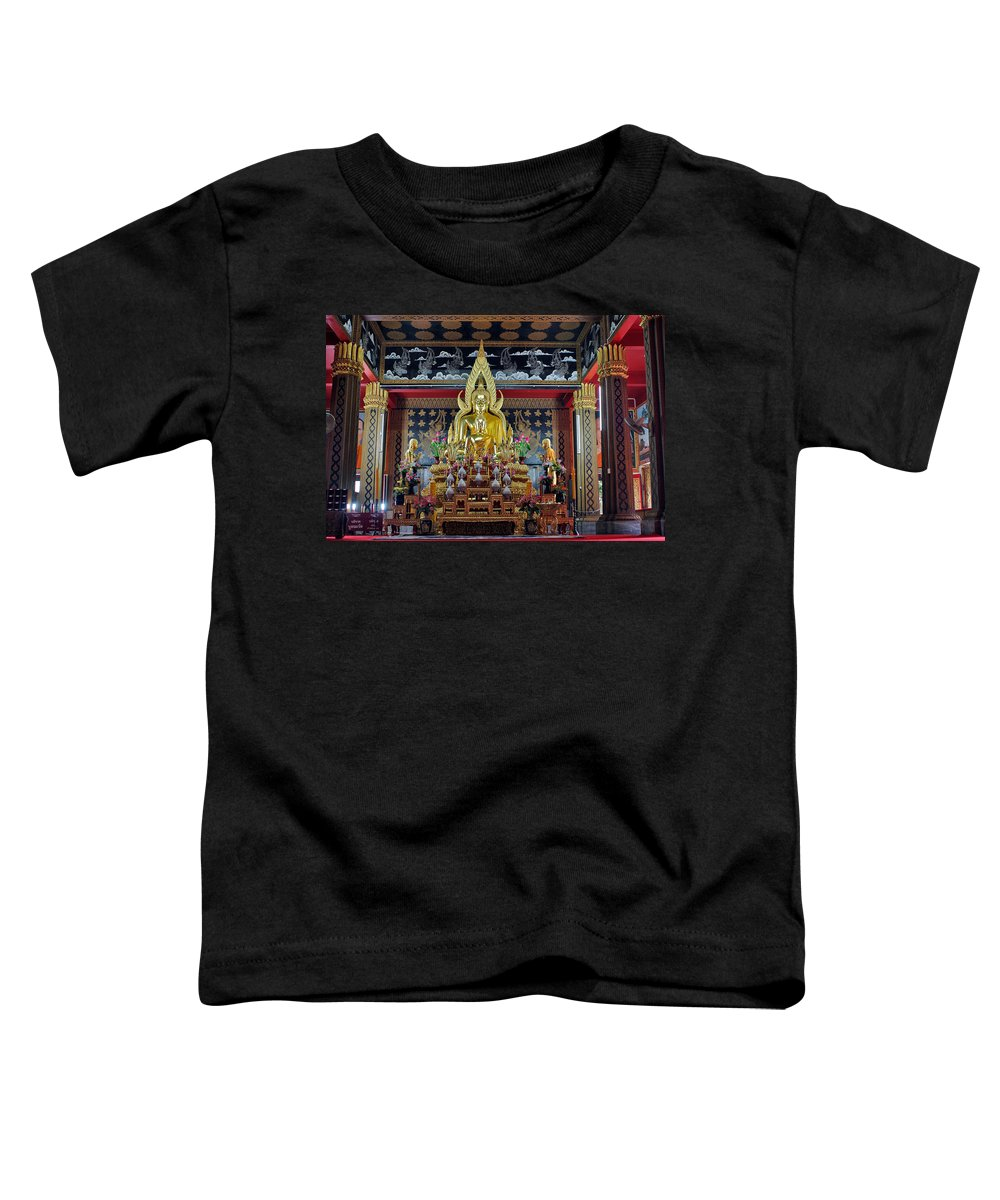 3scape Photos Toddler T-Shirt featuring the photograph Golden Buddha by Adam Romanowicz