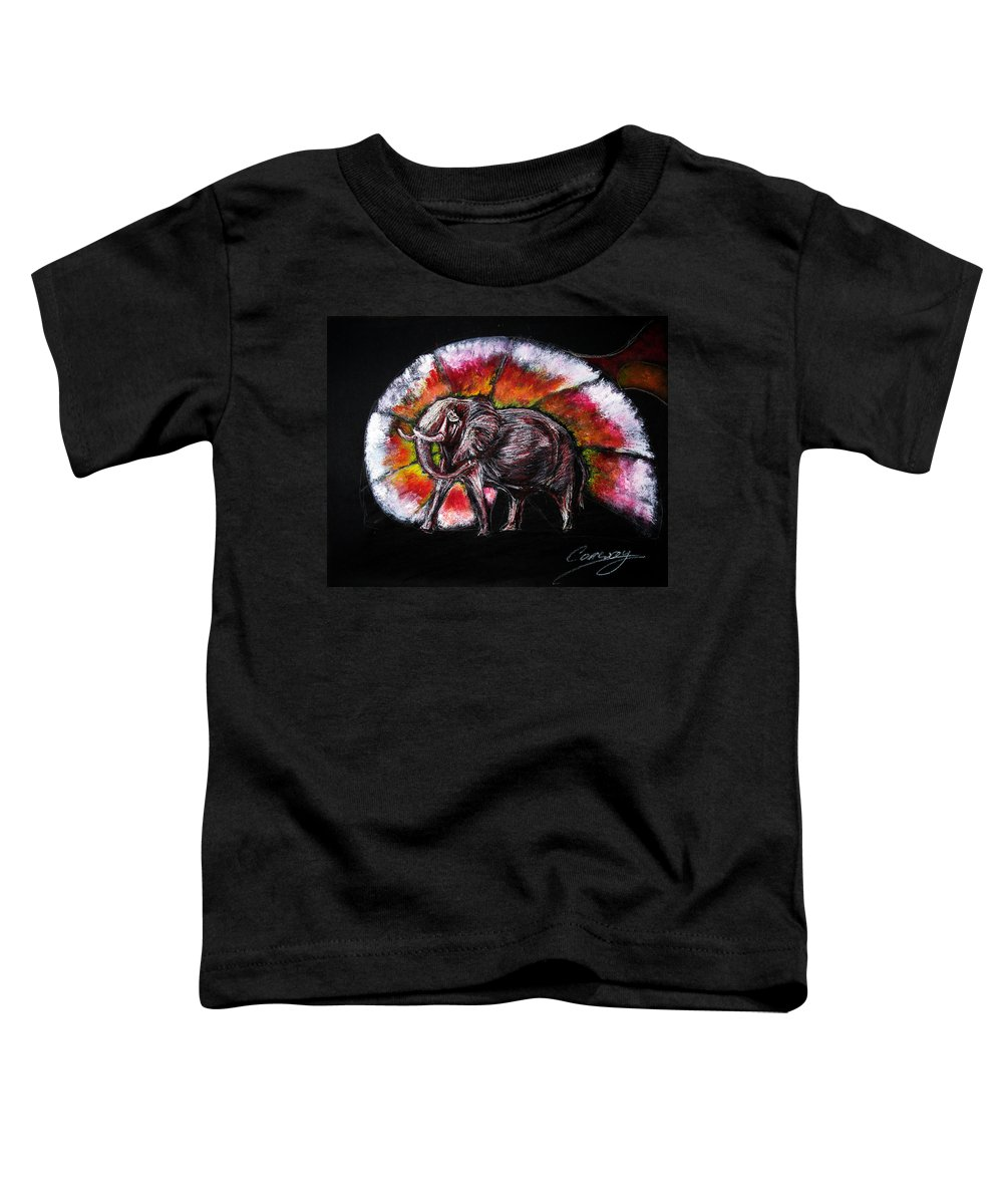Wild Toddler T-Shirt featuring the drawing Grand Designs For Life On Earth by Tom Conway