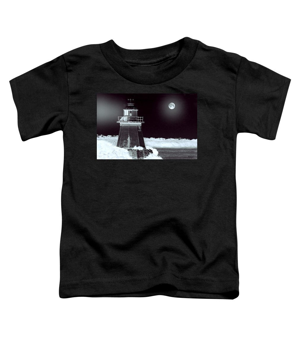 Landscapes Toddler T-Shirt featuring the photograph Guiding Lights by Holly Kempe