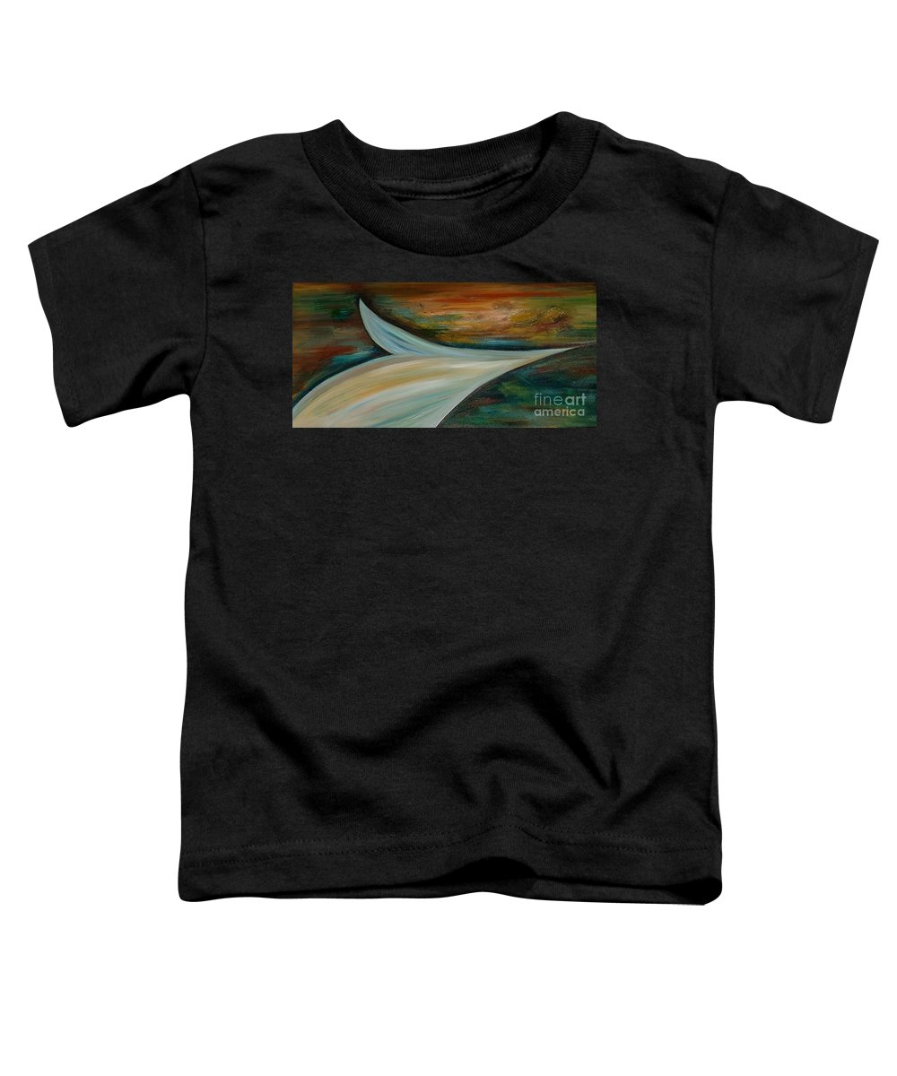 Modern Art Toddler T-Shirt featuring the painting Heaven by Silvana Abel