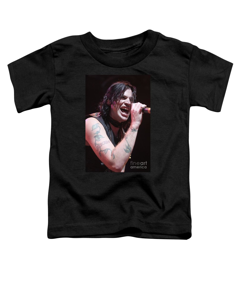 Singer Toddler T-Shirt featuring the photograph Hinder by Concert Photos