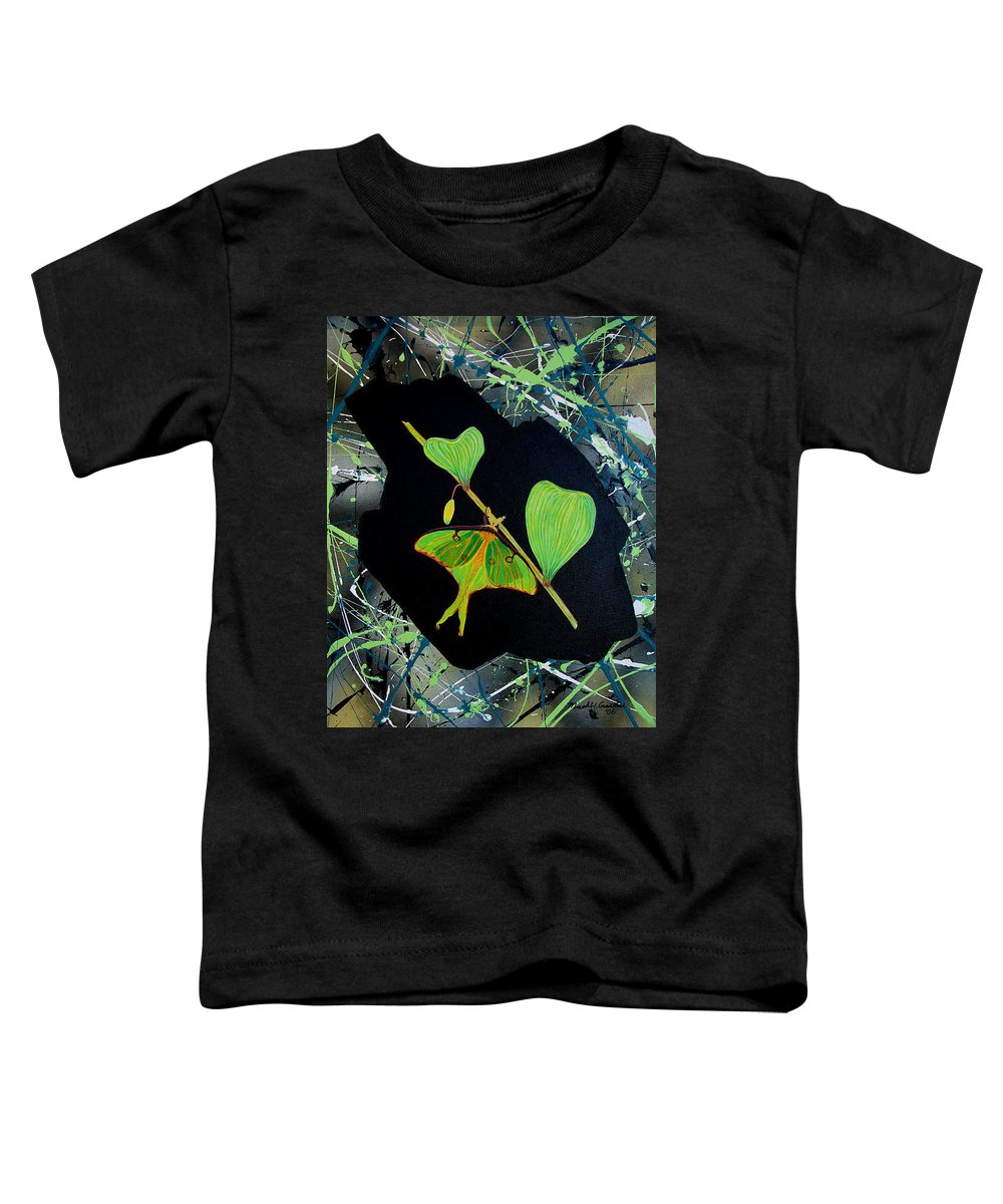 Abstract Toddler T-Shirt featuring the painting Imperfect IIi by Micah Guenther