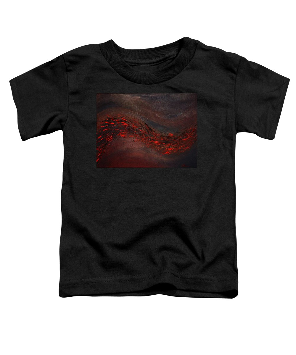 Acrylic Toddler T-Shirt featuring the painting Into The Night by Todd Hoover