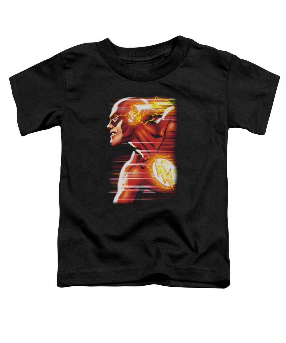 Justice League Of America Toddler T-Shirt featuring the digital art Jla - Speed Head by Brand A