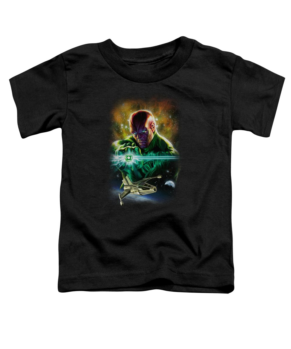 Justice League Of America Toddler T-Shirt featuring the digital art Jla(gl) - Abin Sur by Brand A