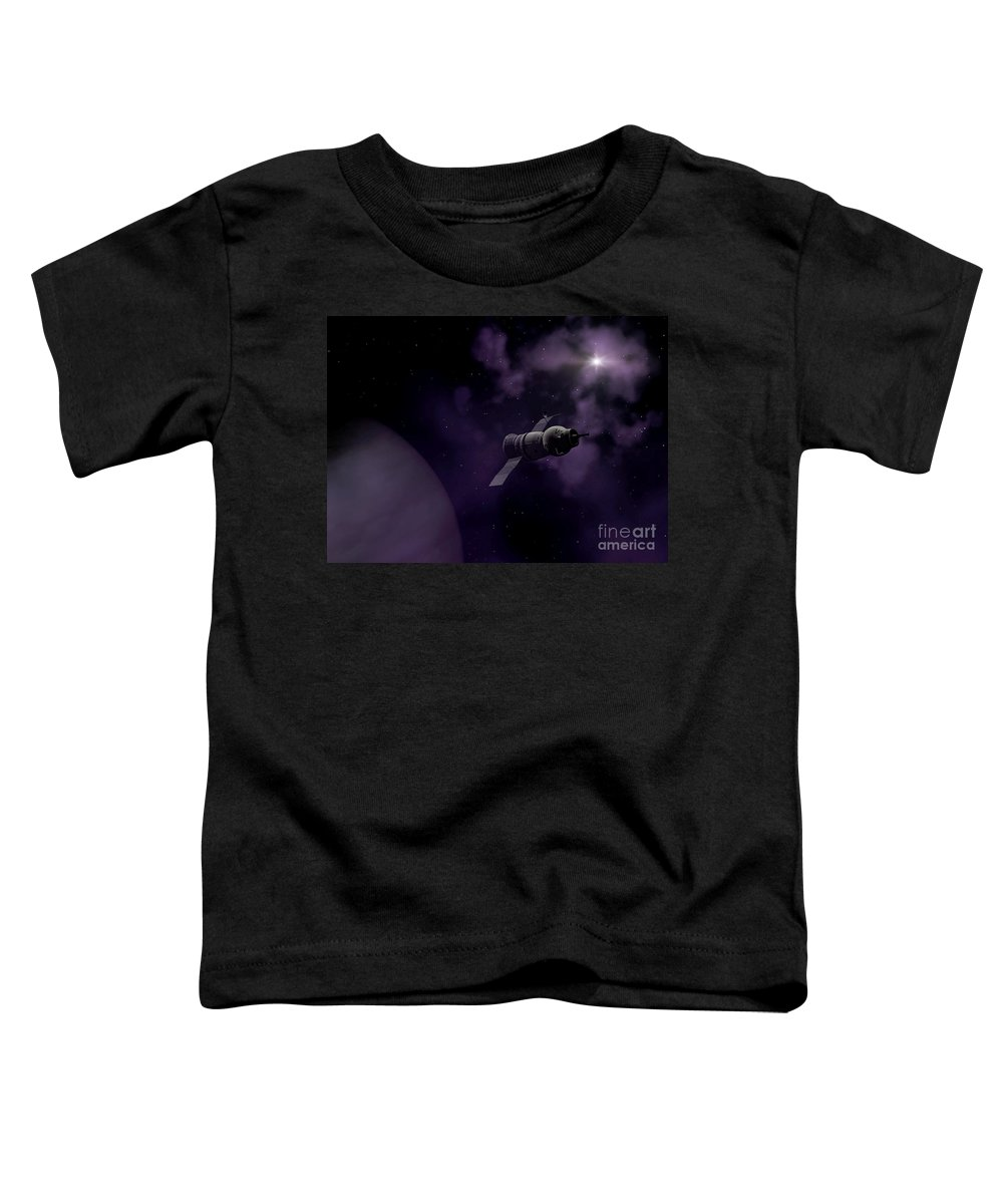 Space Toddler T-Shirt featuring the digital art Jupitor One Exploration by Richard Rizzo