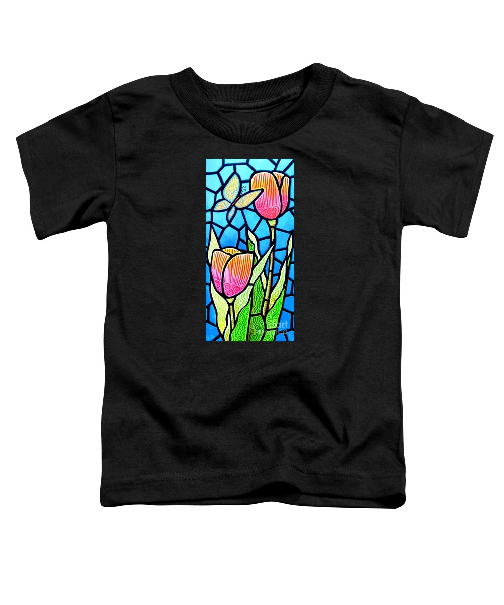 Butterflies Toddler T-Shirt featuring the painting Just Visiting by Jim Harris