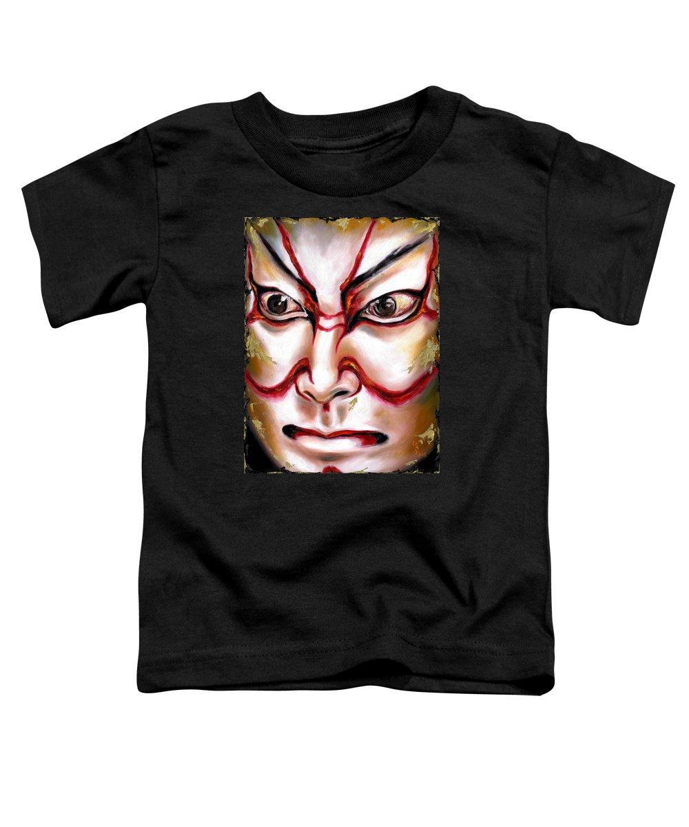 Kabuki Toddler T-Shirt featuring the painting Kabuki One by Hiroko Sakai