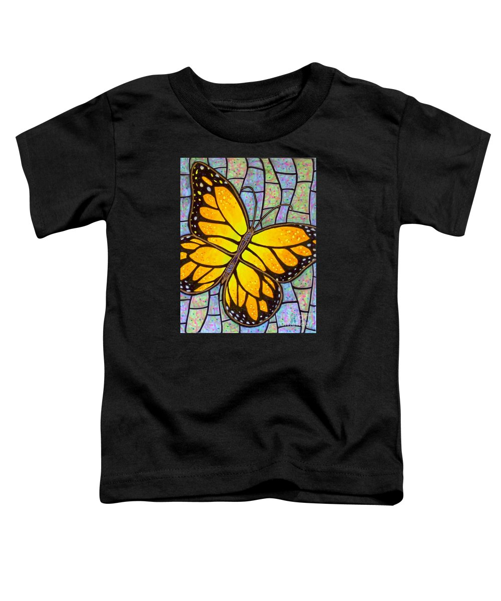 Butterflies Toddler T-Shirt featuring the painting Karens Butterfly by Jim Harris
