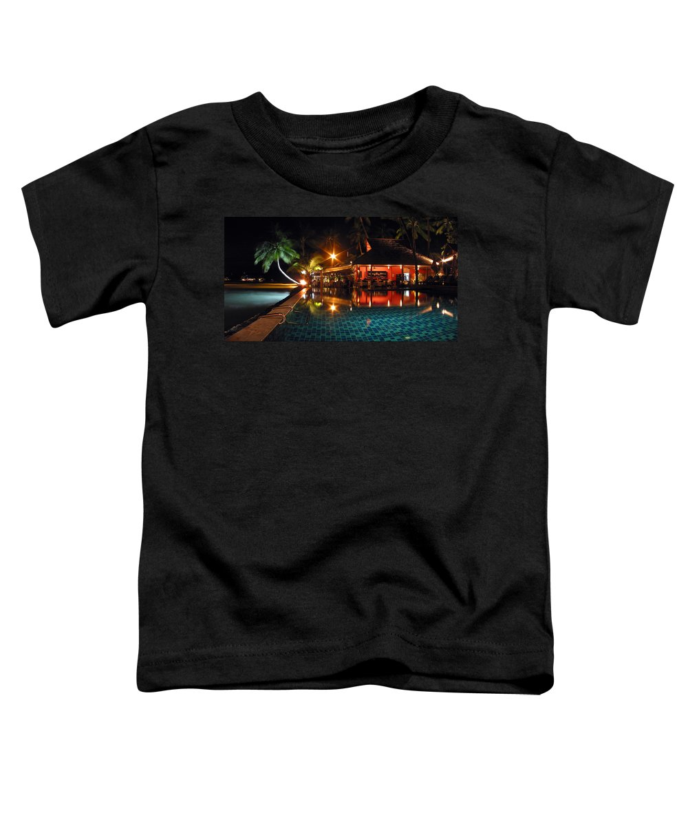 3scape Toddler T-Shirt featuring the photograph Koh Samui Beach Resort by Adam Romanowicz