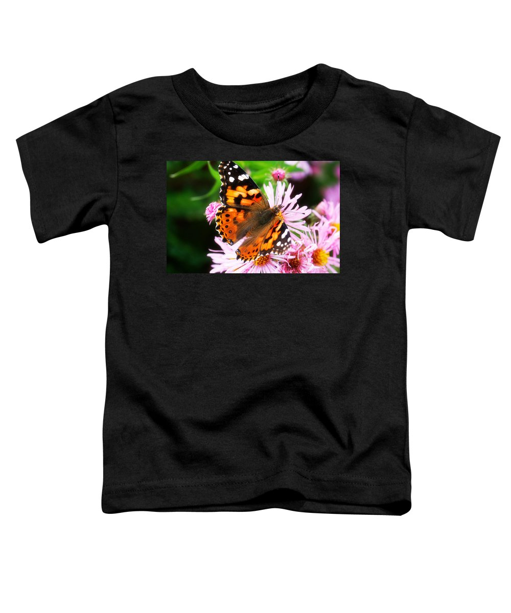 Flower Toddler T-Shirt featuring the photograph Late Summer Painted Lady by Marilyn Hunt