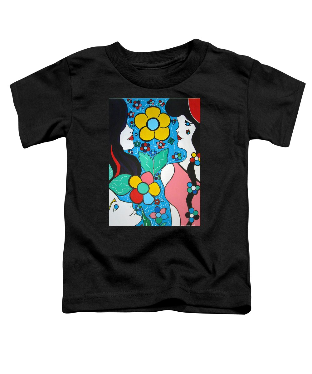 Pop-art Toddler T-Shirt featuring the painting Life Is Beautiful by Silvana Abel