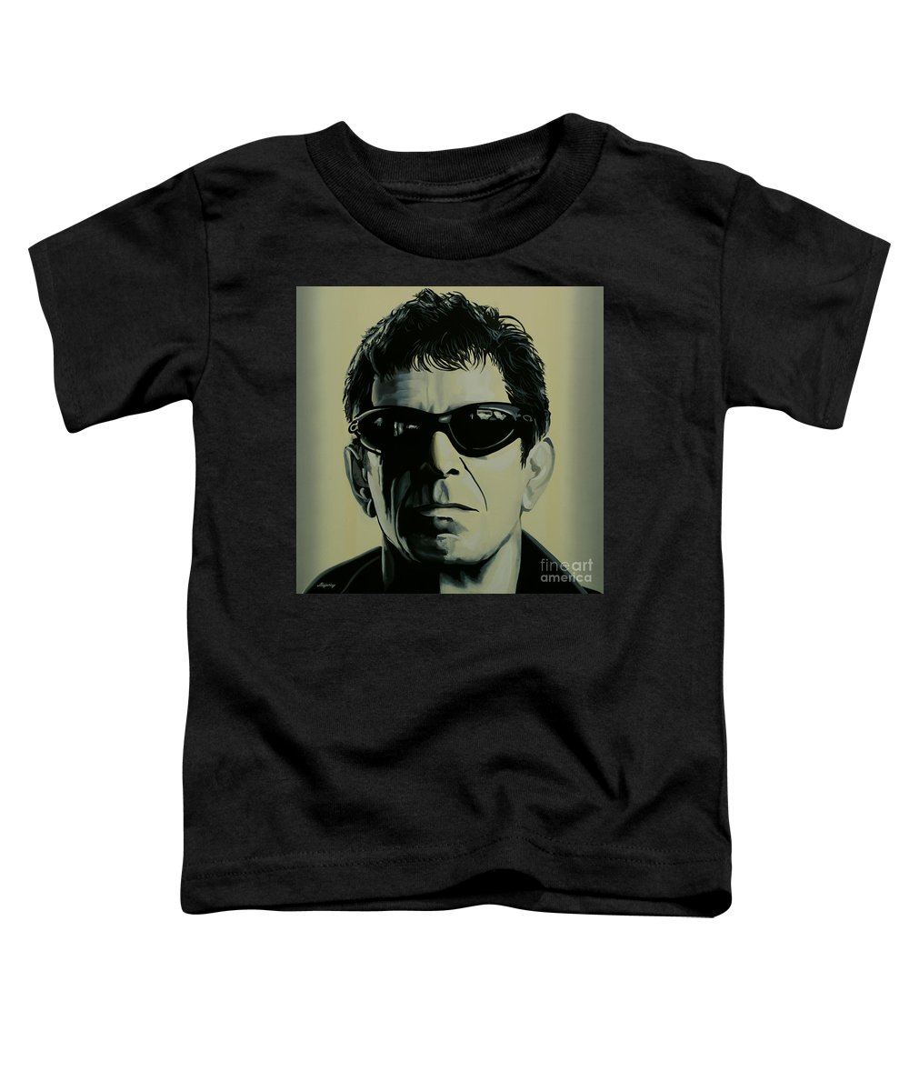 Lou Reed Toddler T-Shirt featuring the painting Lou Reed Painting by Paul Meijering