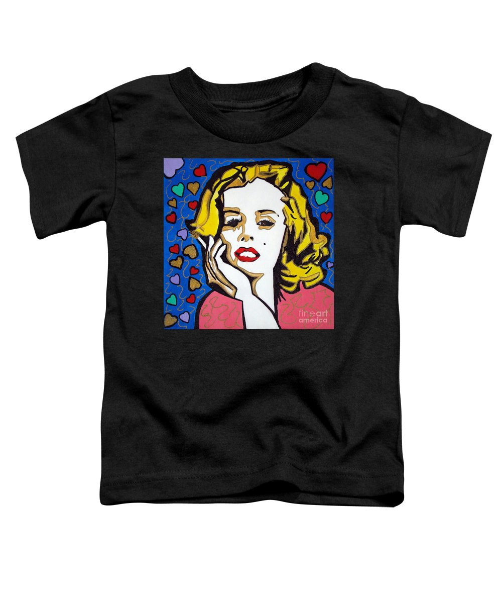 Pop Art Toddler T-Shirt featuring the painting M M by Silvana Abel