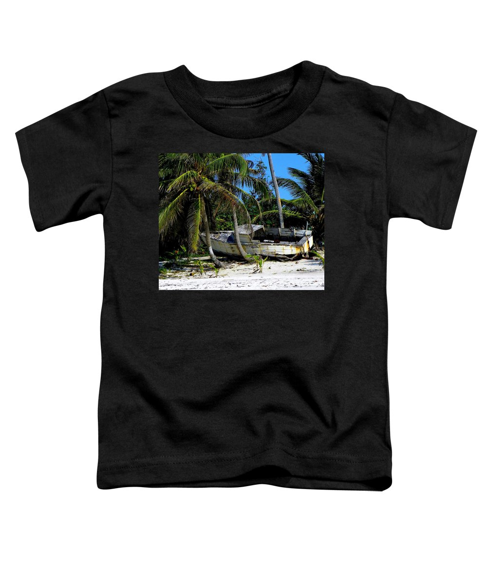 Nautical Toddler T-Shirt featuring the photograph Man's Lost Dream by Karen Wiles