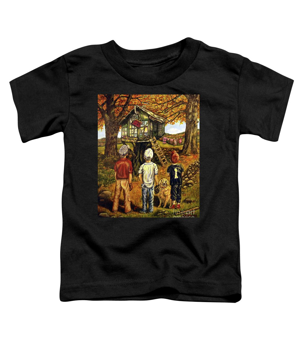 Trees Toddler T-Shirt featuring the painting Meadow Haven by Linda Simon